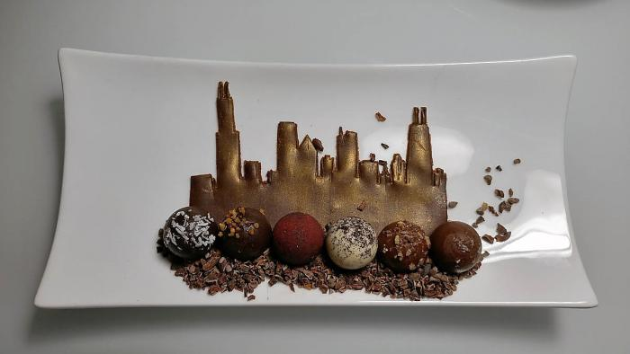 Chicago skyline truffles at InterContinental Hotel Chicago