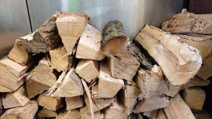 Wood for aquarium smoker inside Lem's Bar-B-Q