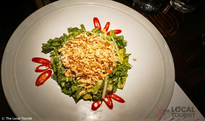 Imperial Lamian Bom Bom - Pulled chicken breast, cashews, red leaf lettuce, Thai peanut dressing