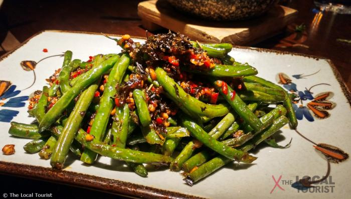 Imperial Lamian Green Beans - minced pork, Chinese olives