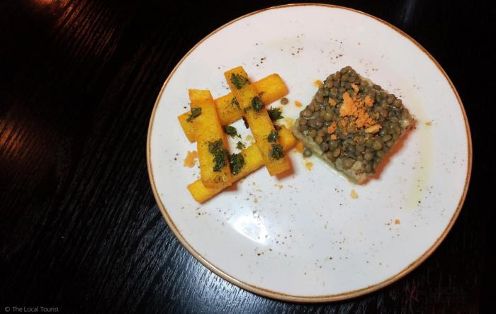 Eggplant caviar at Artango Steakhouse