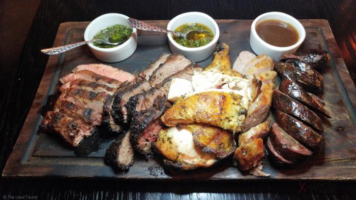 Argentine Asado (taste of grilled meats, sausages, grilled chicken)