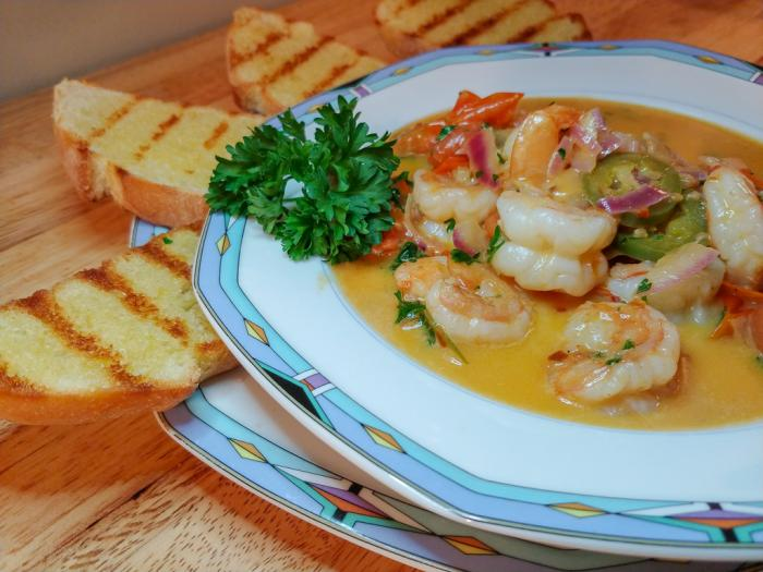 Chef Josh Capon Shrimp Scampi