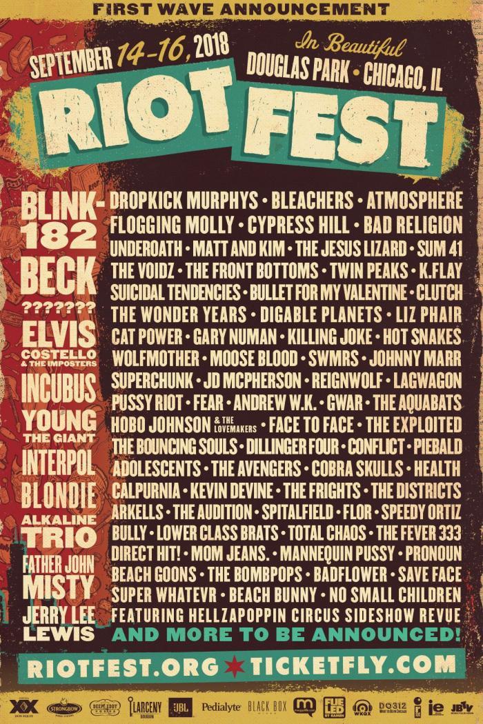 Riot Fest 2018 Lineup