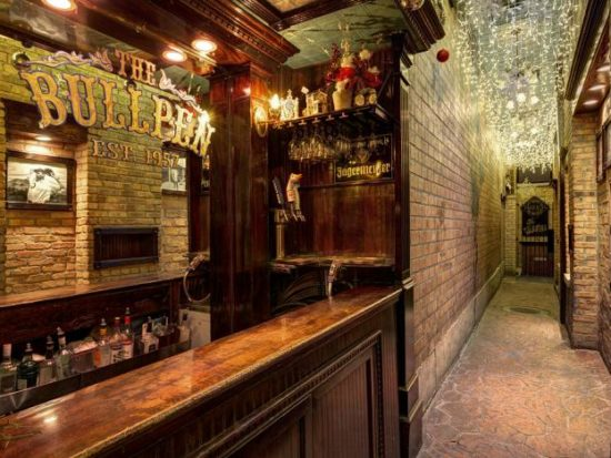 Back bar at The Lodge Tavern