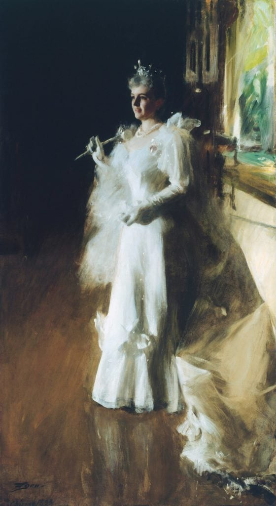 Mrs. Potter Palmer *oil on canvas *258 x 141.2 cm *1893 *signed b.l.: Zorn