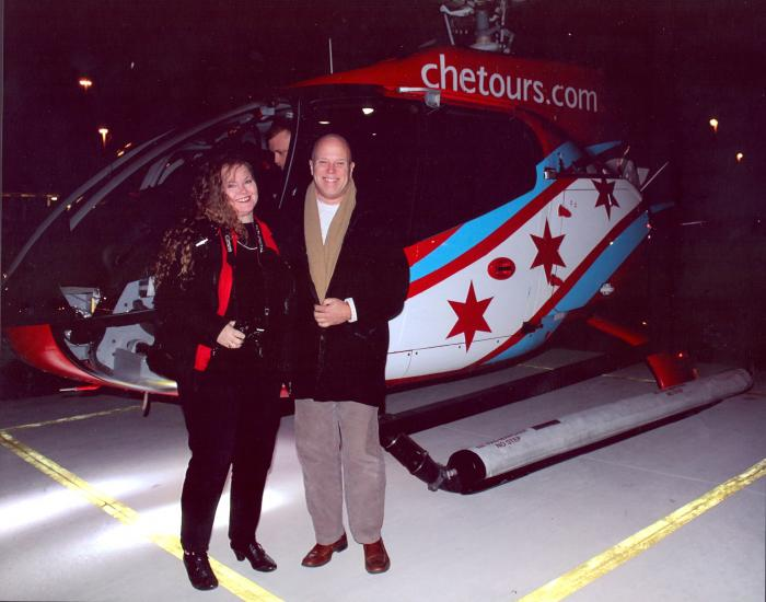 See Chicago's sparkling holiday lights from above the city with Chicago Helicopter Experience 1
