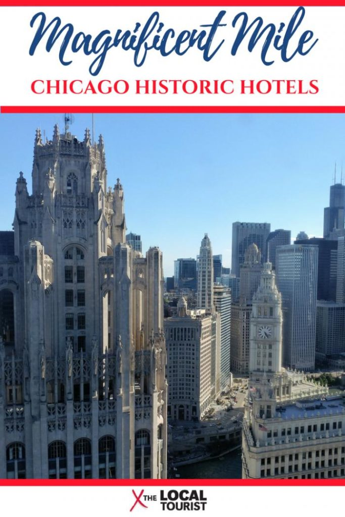 The Magnificent Mile is more than just shopping. Check out these historic hotels in downtown Chicago. #Chicago #hotels #placestostay