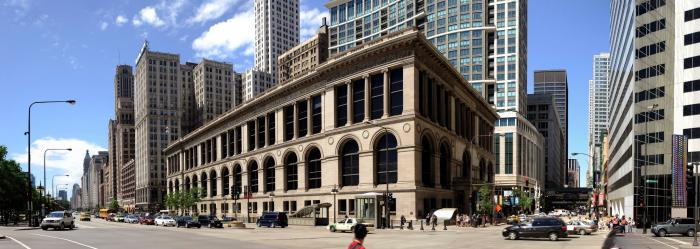 Known as the People's Palace, the Chicago Cultural Center is an active center for the arts