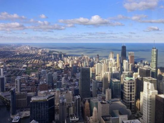 Chicago skyline from Sky Deck Chicago