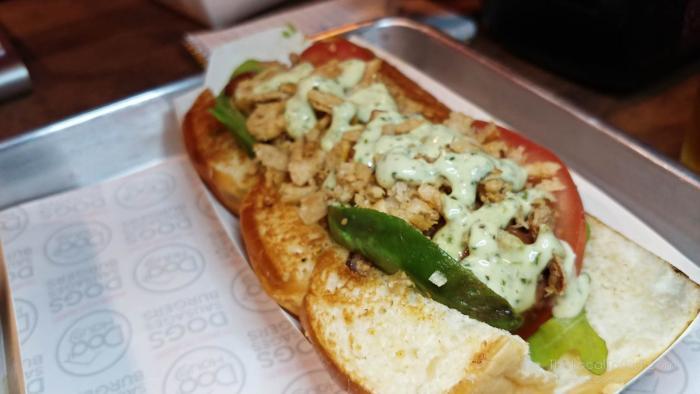 Hot dog from Dog Haus Biergarten Chicago