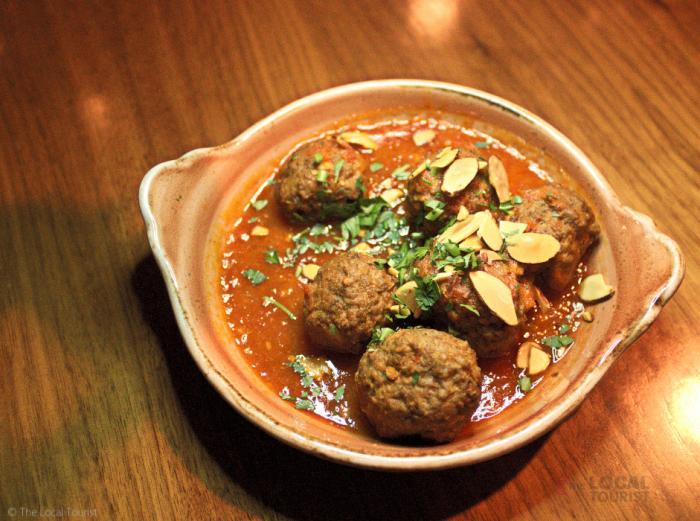 Albondigas – lamb and bacon meatball in sherry tomato sauce