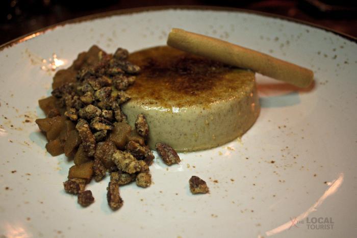 Spiced Catalana - bourbon caramel apples, cinnamon nuts
