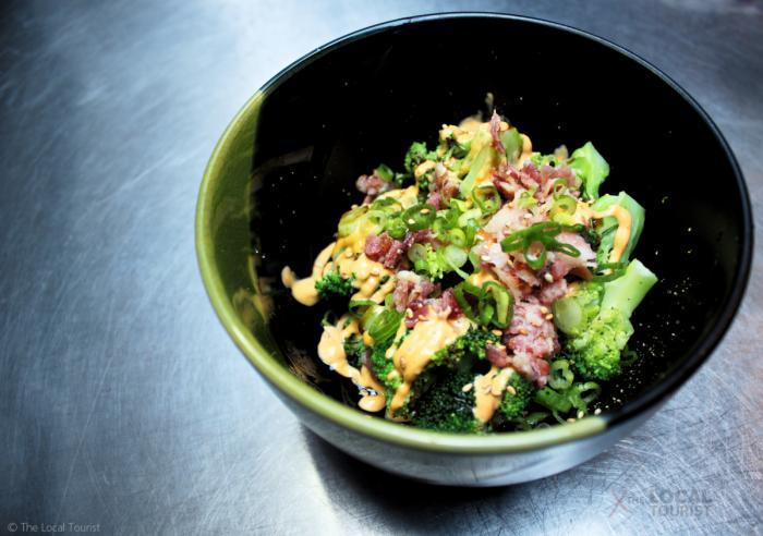 Strings Ramen Broccoli with Bacon