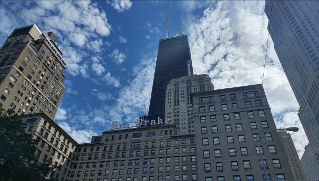 The Historic Drake Hotel, one of the iconic hotels on the Magnificent Mile in downtown Chicago