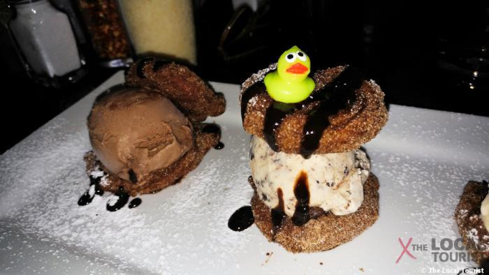 Churros with ice cream at Lark