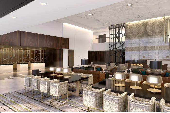 Rendering - Loews Chicago Hotel Lobby