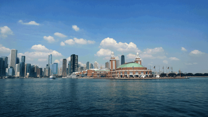 Navy Pier and the Chicago Skyline