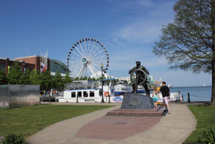 Entrance to Navy Pier in Chicago