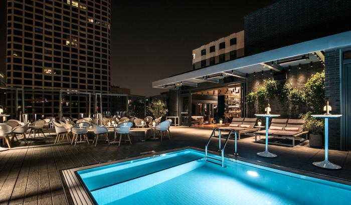 Devereaux Rooftop Lounge at Night