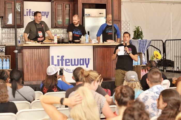 Taste of Chicago Lifeway Kefir cooking demonstration