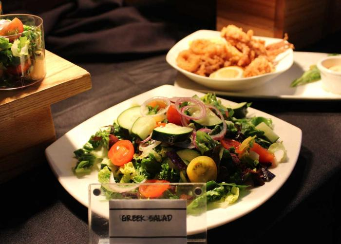 Greek salad at The Patio
