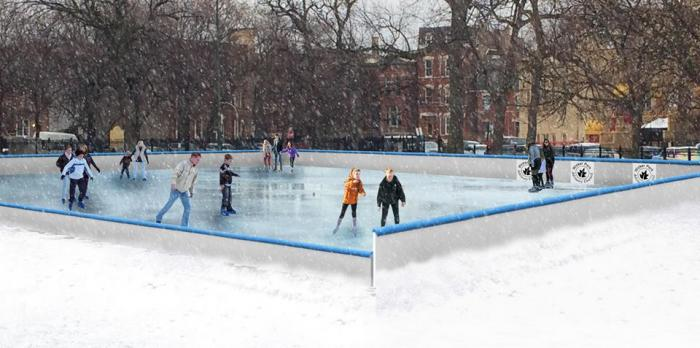 Wicker ICE Skating Rink in Wicker Park