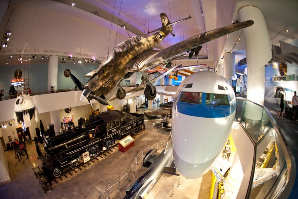 Planes at the Museum of Science and Industry, photo courtesy Choose Chicago