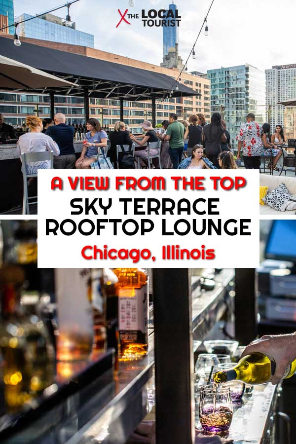 Sky Terrace Rooftop Lounge, on the 16th floor of the Ivy Hotel is just steps from the Magnificent Mile. This Chicago rooftop experience offers chic ambiance and a superb menu of both craft cocktails and upscale food. #ChicagoRooftop #ChicagoBar #Chicago