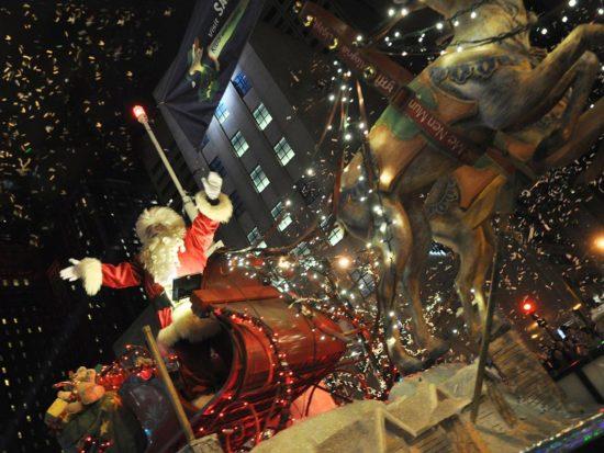 Santa at the Magnificent Mile Lights Festival