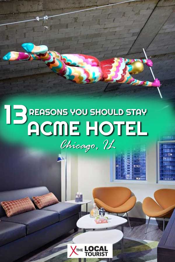 Looking for a downtown Chicago hotel? You can't go wrong with a stay at ACME Hotel Company. Here are 13 reasons you should stay at this hotel in Chicago. #ChicagoHotels #WheretostayinChicago #downtownChicago