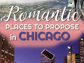 If you've found the one and you're looking for the perfect place to pop the question, we've found the most romantic places to propose in Chicago. | Romantic Chicago | Places to propose | Chicago romance | Getting engaged