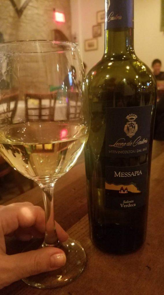Pugliese wine at Osteria Trulli