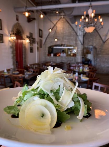 Arugula salad at Osteria Trulli