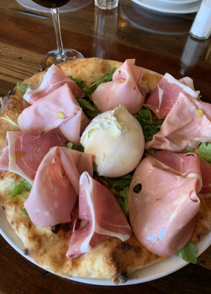 La Burrata pizza at Osteria Trulli