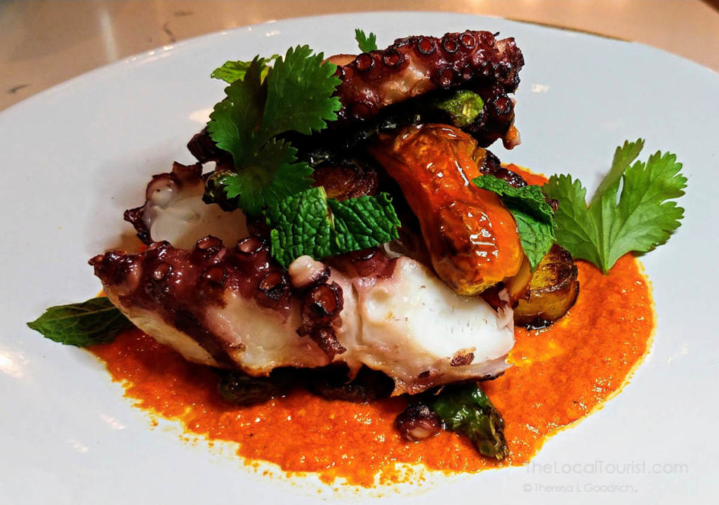 Amazing charred octopus at About Last Knife
