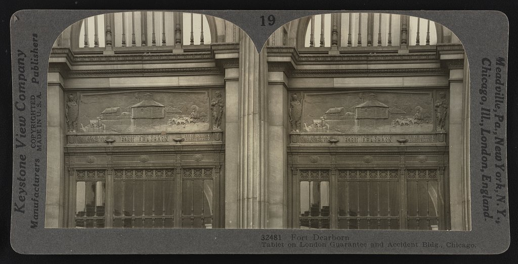 Fort Dearborn Tablet on London Guarantee and Accident Bldg., Chicago