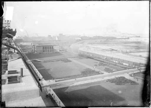 Grant Park Panorama from Roof of Auditorium Building, 1907; source: Encyclopedia of Chicago