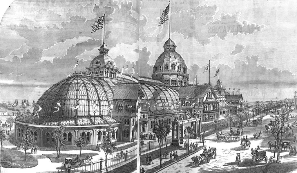 Inter-state Exposition Building 1872 - 1892 Chicago, designed by W. W. Boyington