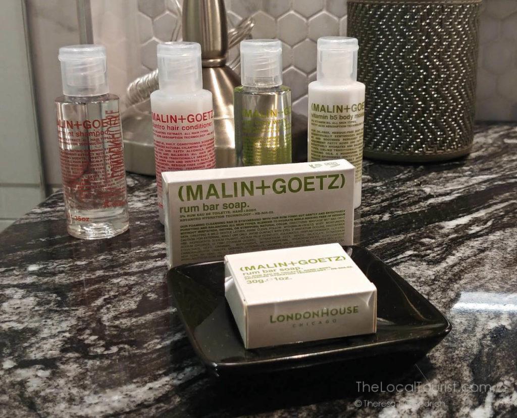 Bathroom amenities at LondonHouse