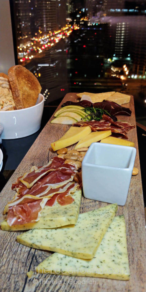 Cheese and charcuterie, one of the many dishes you can dine on from the comfort of your room in LondonHouse