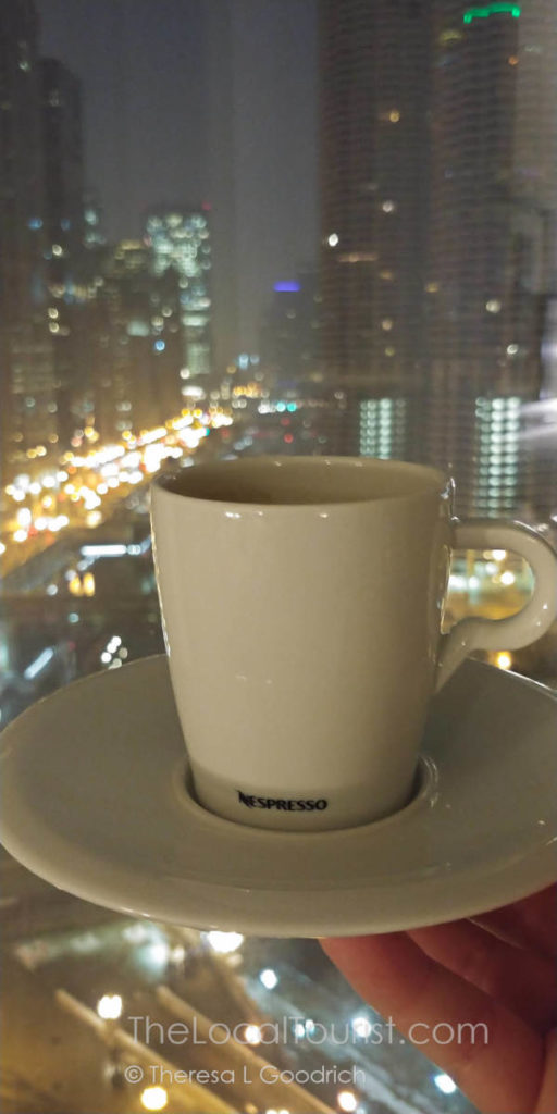 Espresso and a view at LondonHouse