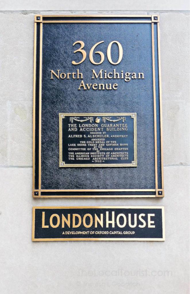 Plaque describing award presented to London Guarantee & Accident in 1923