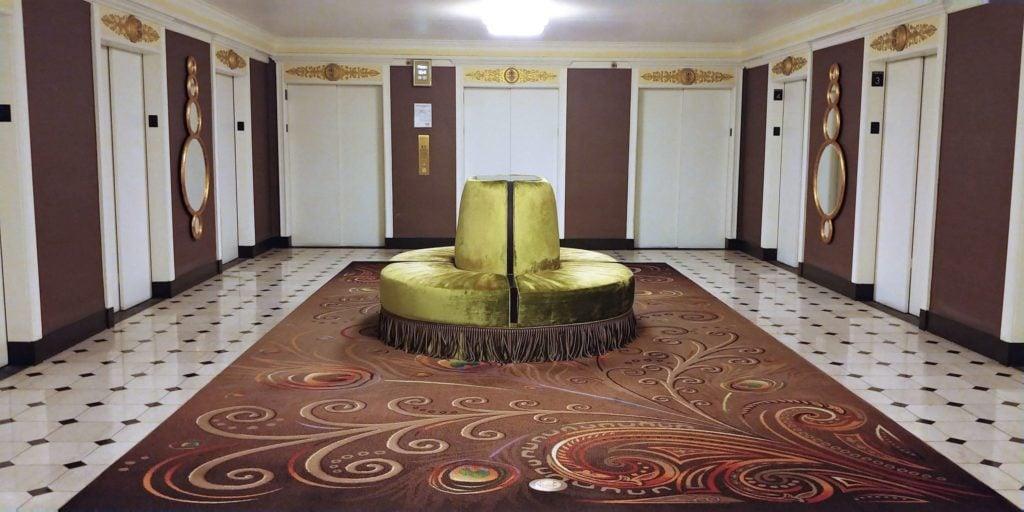 Elevator lobby on guest room floor