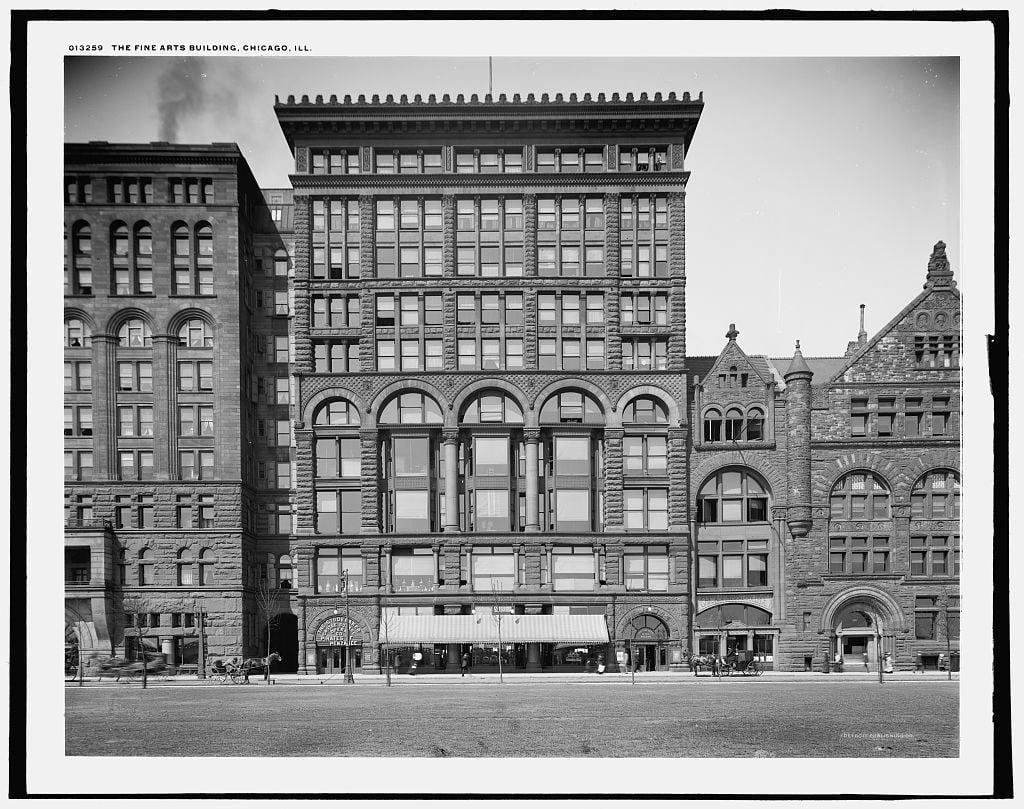 Fine Arts Building photo circa 1900