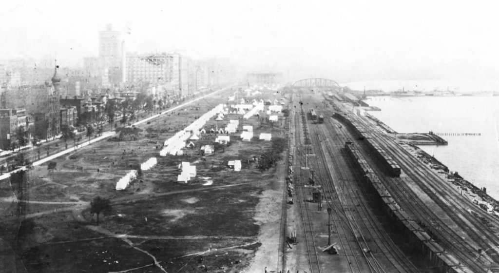 Grant Park looking north around 1890