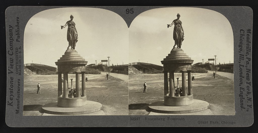 Joseph Rosenberg Fountain, circa 1930; source Library of Congress