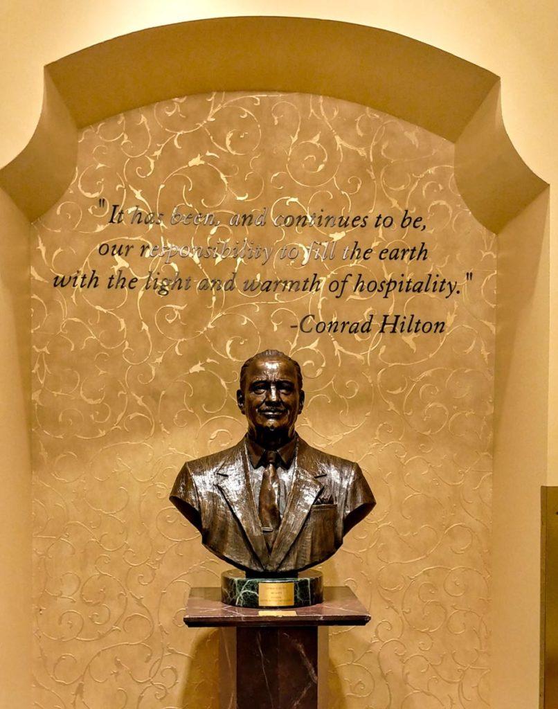 Statue of Conrad Hilton in the Palmer House