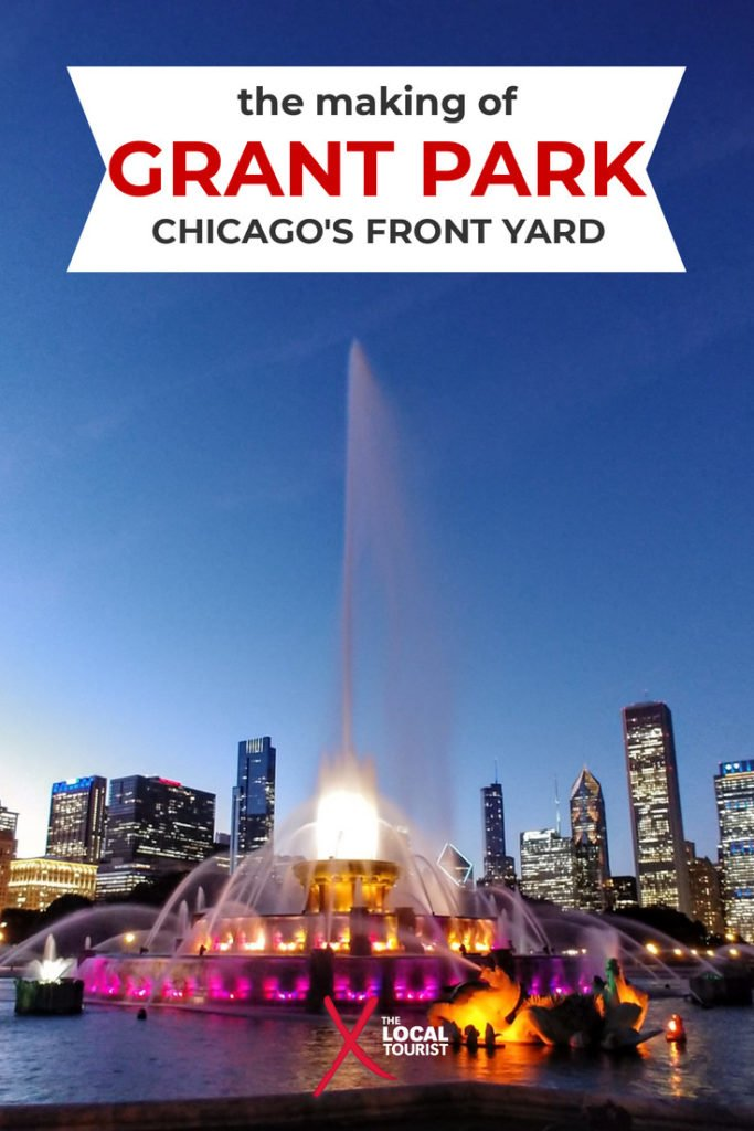 Grant Park is Chicago's Front Yard. Learn the history behind this man-made park that took almost a century to create and several lawsuits to protect. #Chicago #GrantPark #thingstodoinChicago #ChicagoParks