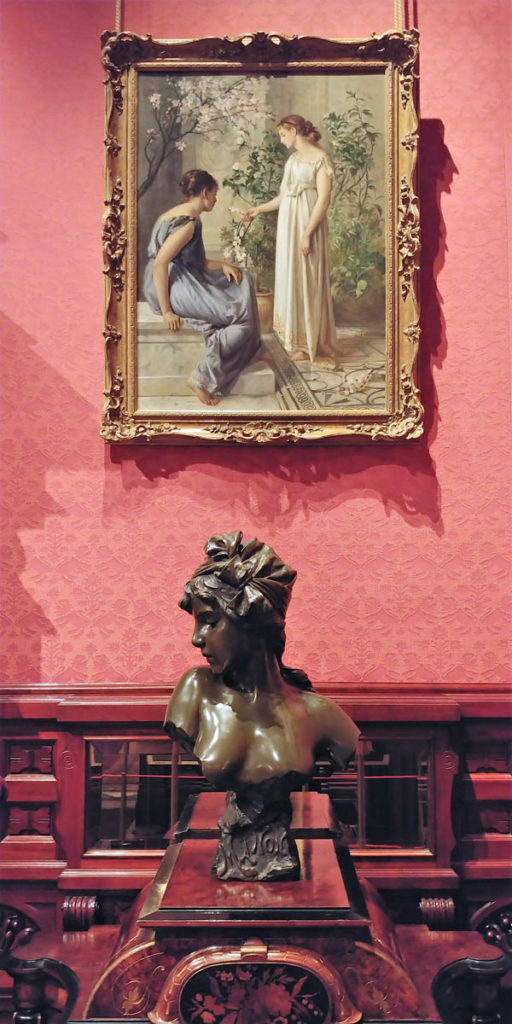 Art inside the Nickerson Mansion, now the Driehaus Museum